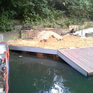 BV Isebekkanal - Bau eines Schwimmsteges 4
